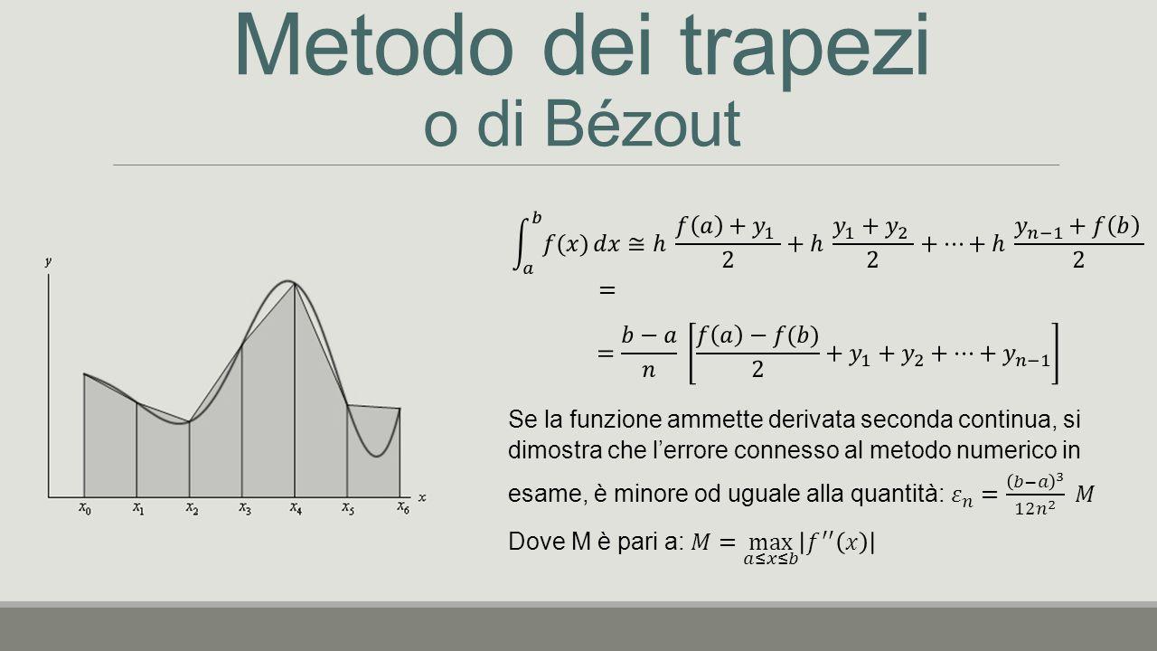 Metodo dei trapezi o di Bézout
