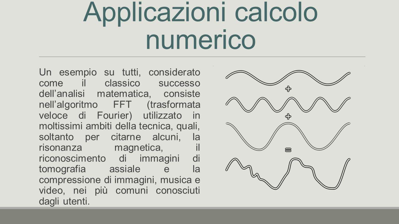 Applicazioni calcolo numerico
