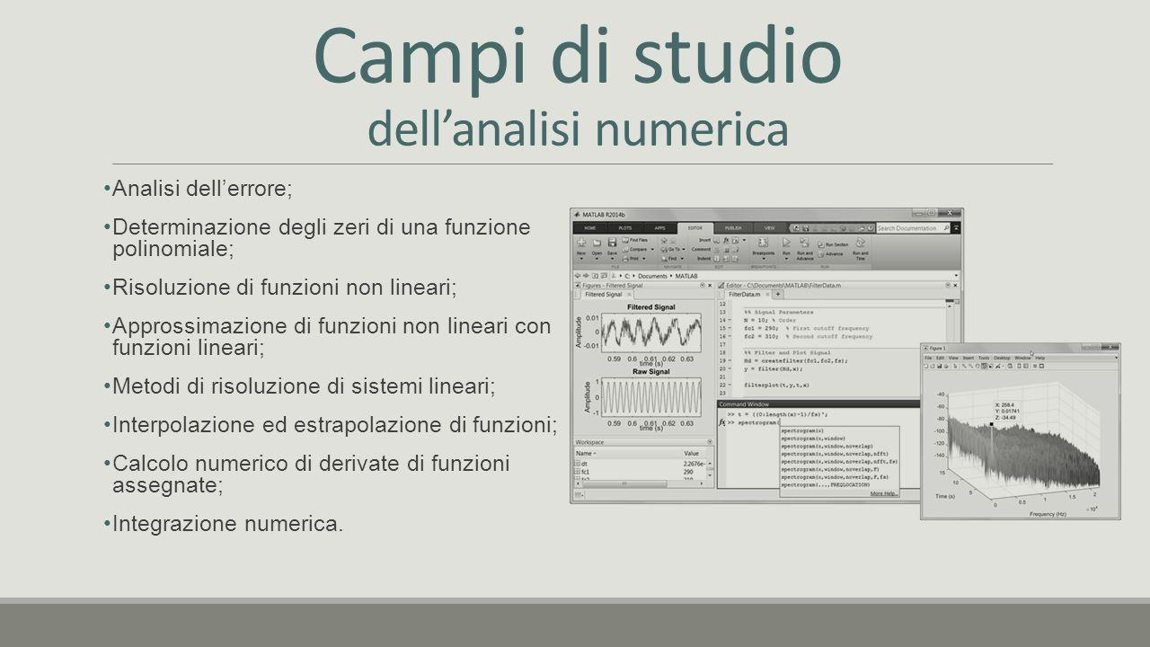 Campi di studio dell'analisi numerica