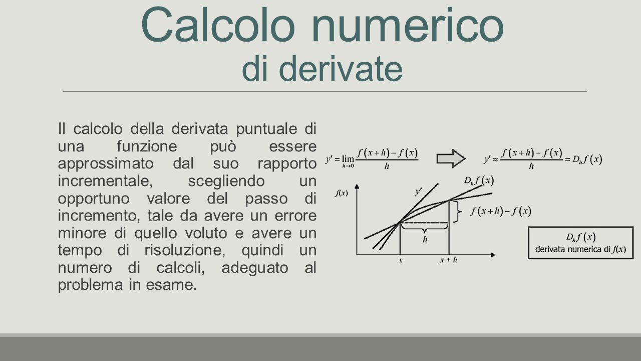 Calcolo numerico di derivate