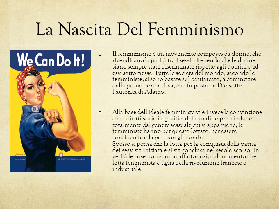 La Nascita Del Femminismo