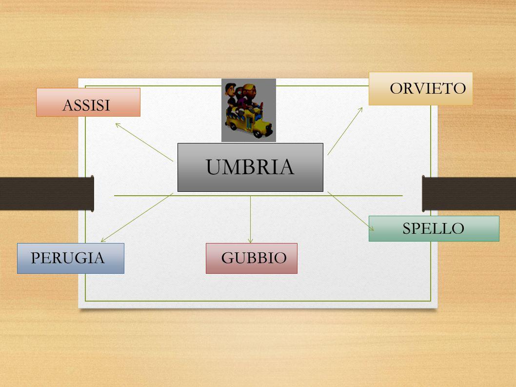 ORVIETO ASSISI UMBRIA SPELLO PERUGIA GUBBIO
