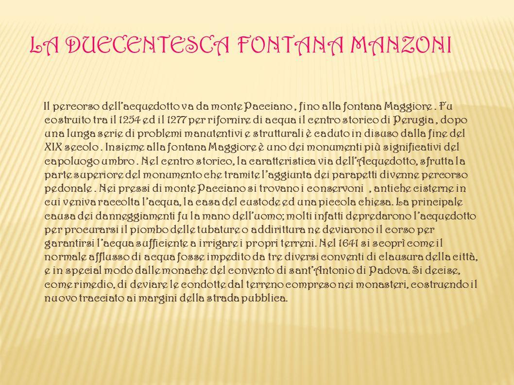 La Duecentesca Fontana Manzoni