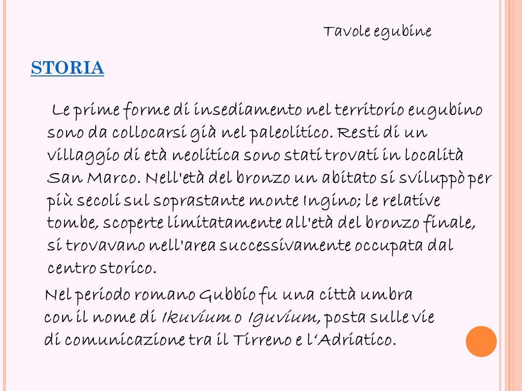 storia Tavole egubine.