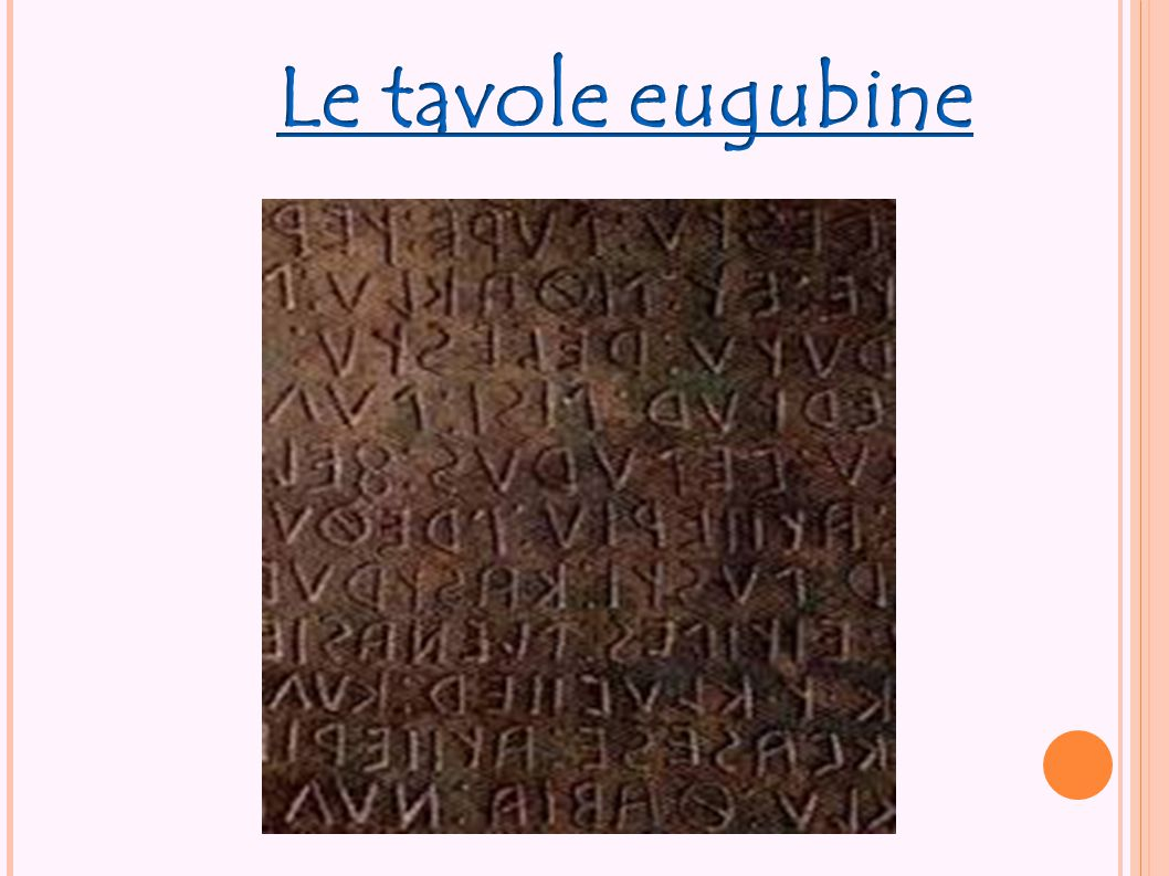 Le tavole eugubine