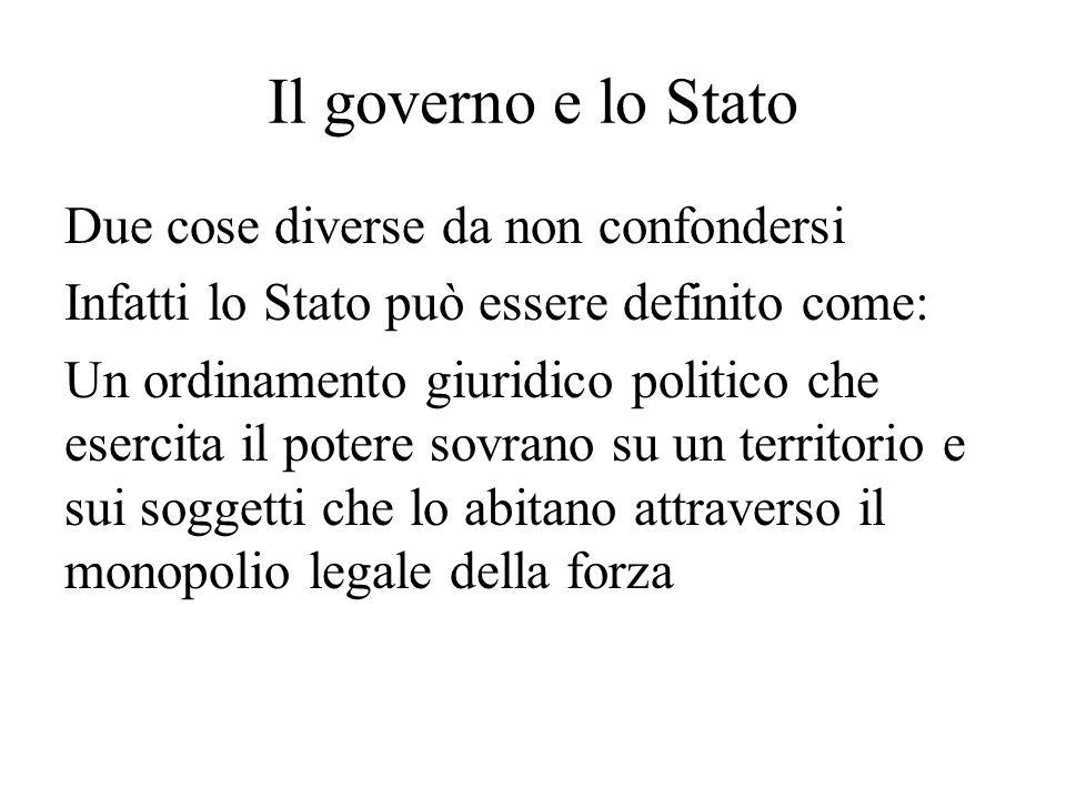 Il governo e lo Stato