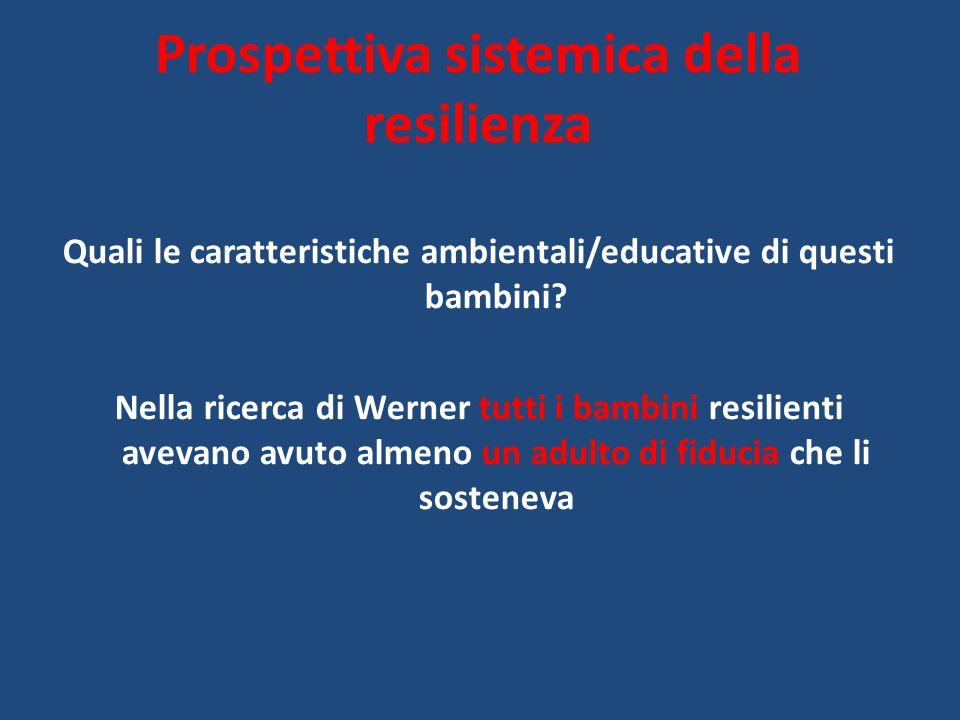 Prospettiva sistemica della resilienza