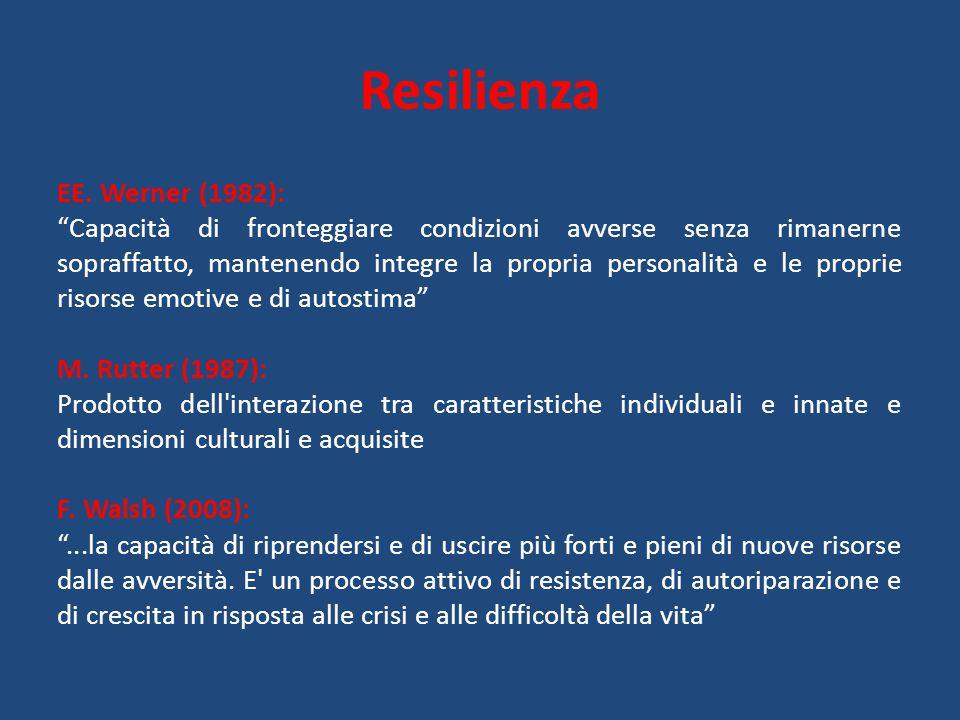 Resilienza EE. Werner (1982):