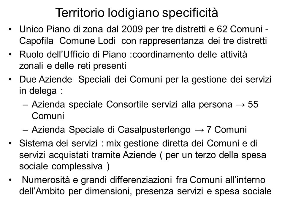 Territorio lodigiano specificità