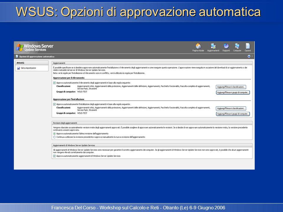 WSUS: Opzioni di approvazione automatica