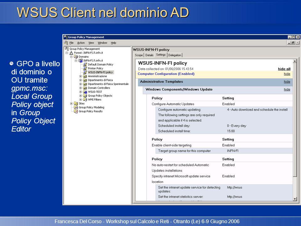 WSUS Client nel dominio AD