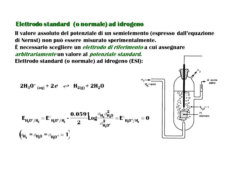 Elettrodo standard (o normale) ad idrogeno