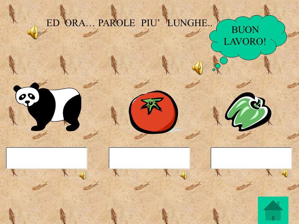 ED ORA… PAROLE PIU' LUNGHE..