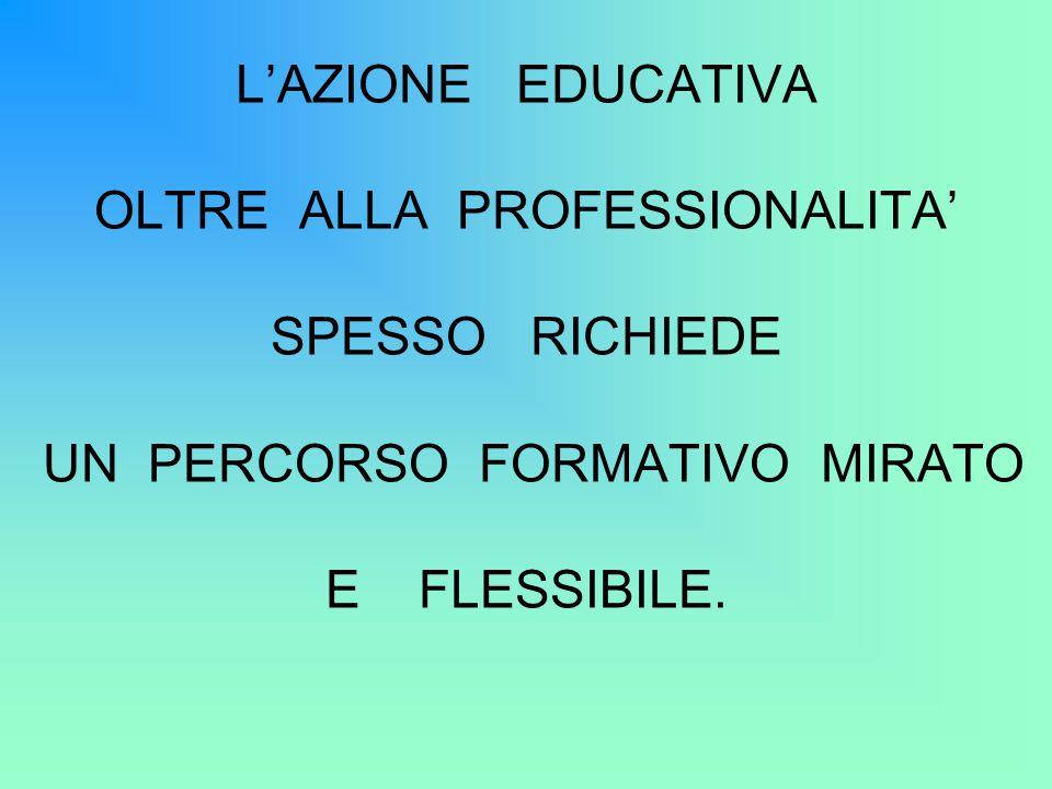 OLTRE ALLA PROFESSIONALITA' SPESSO RICHIEDE