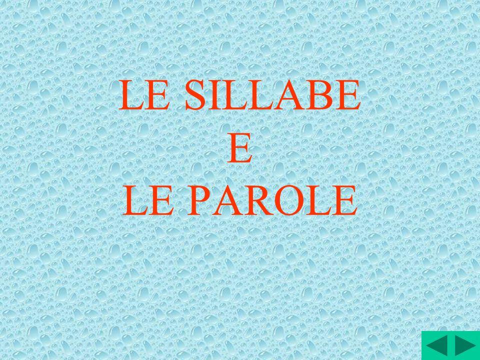 LE SILLABE E LE PAROLE