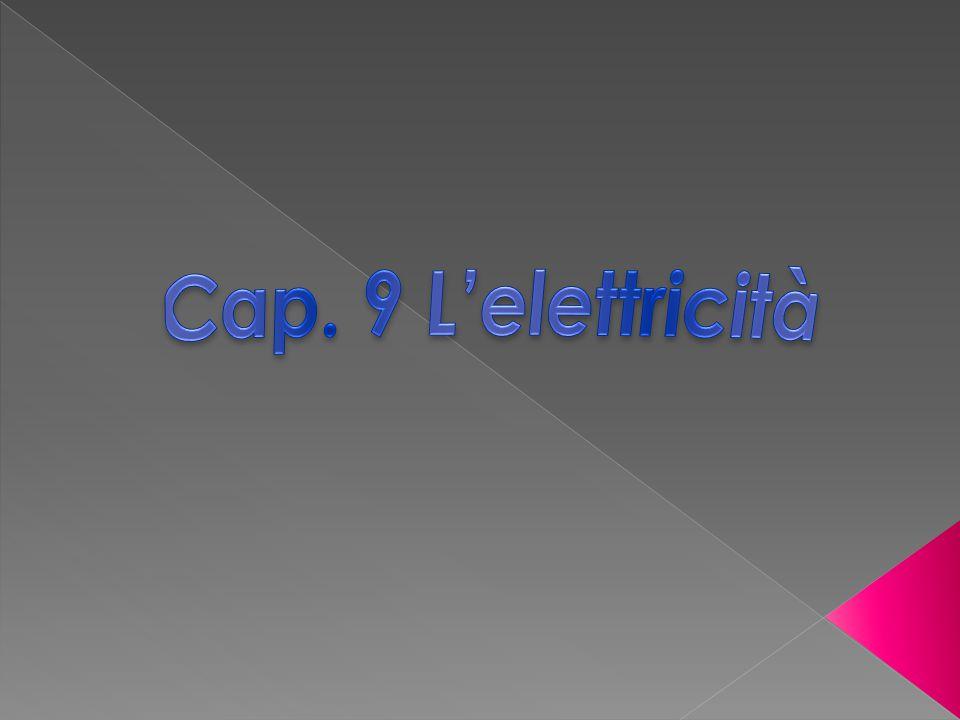 Cap. 9 L'elettricità