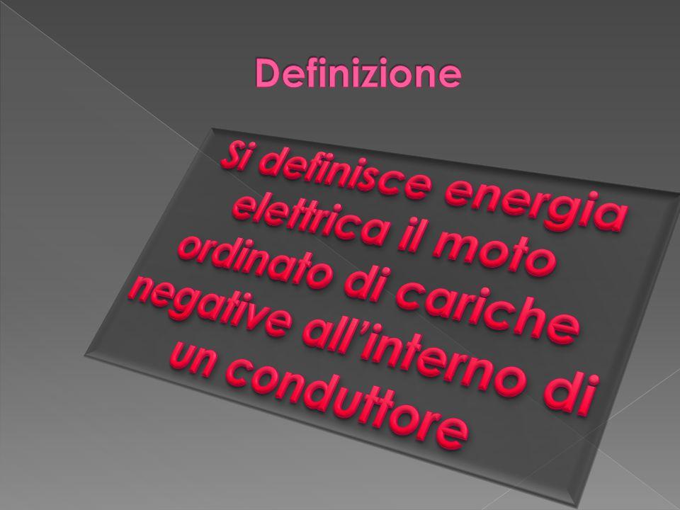 Definizione Si definisce energia elettrica il moto ordinato di cariche negative all'interno di un conduttore.