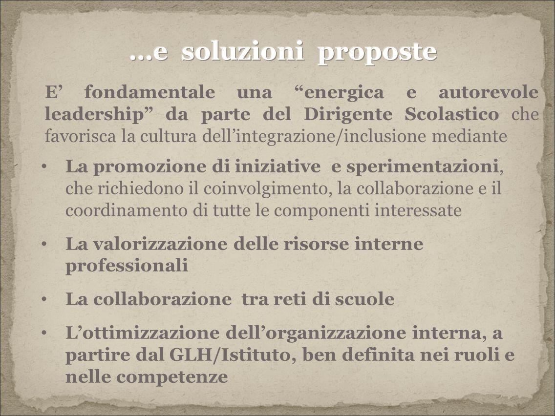 …e soluzioni proposte