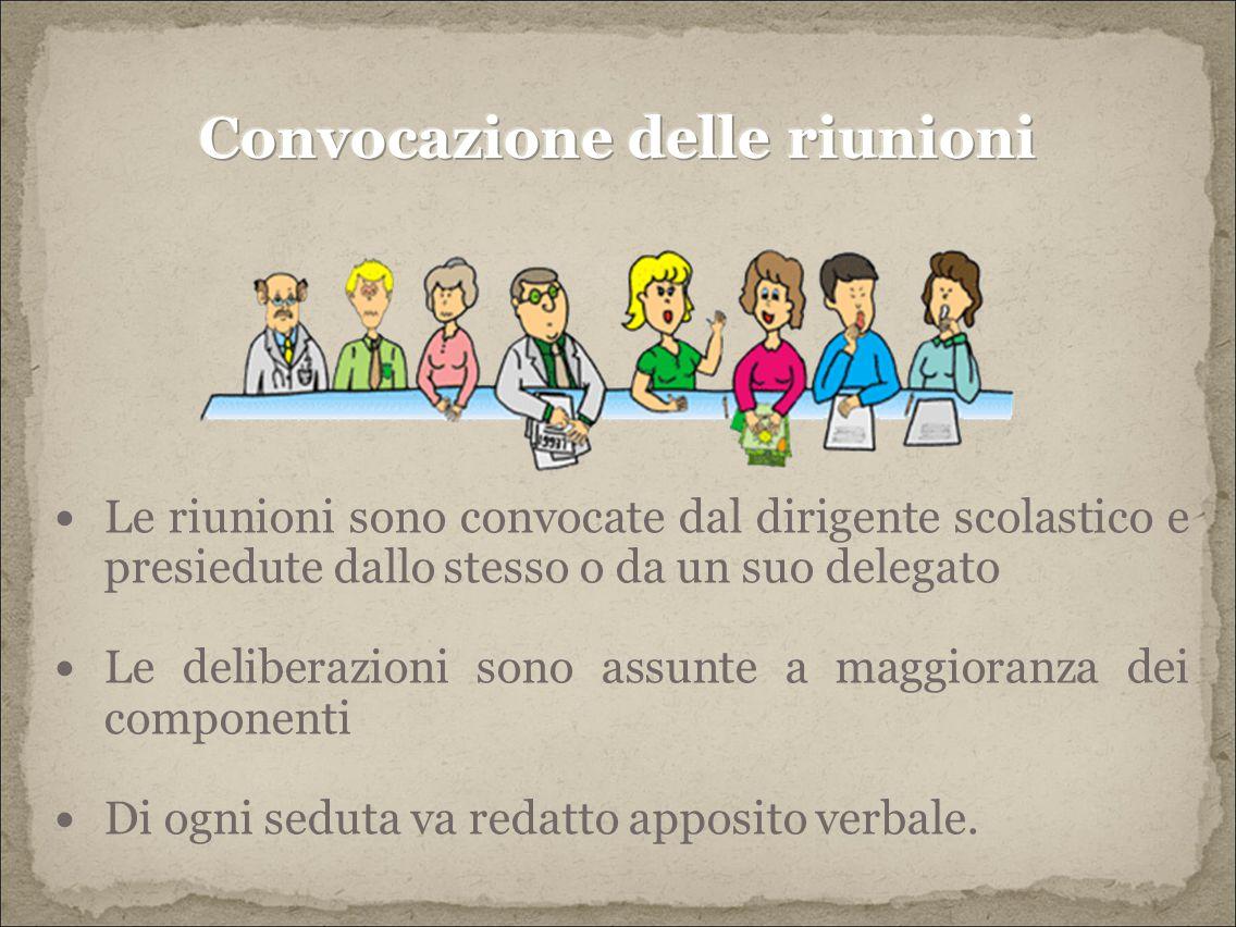 Convocazione delle riunioni