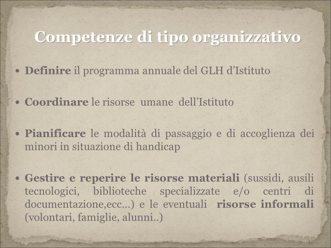 Competenze di tipo organizzativo