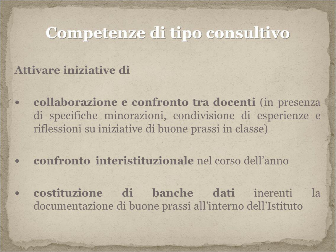 Competenze di tipo consultivo