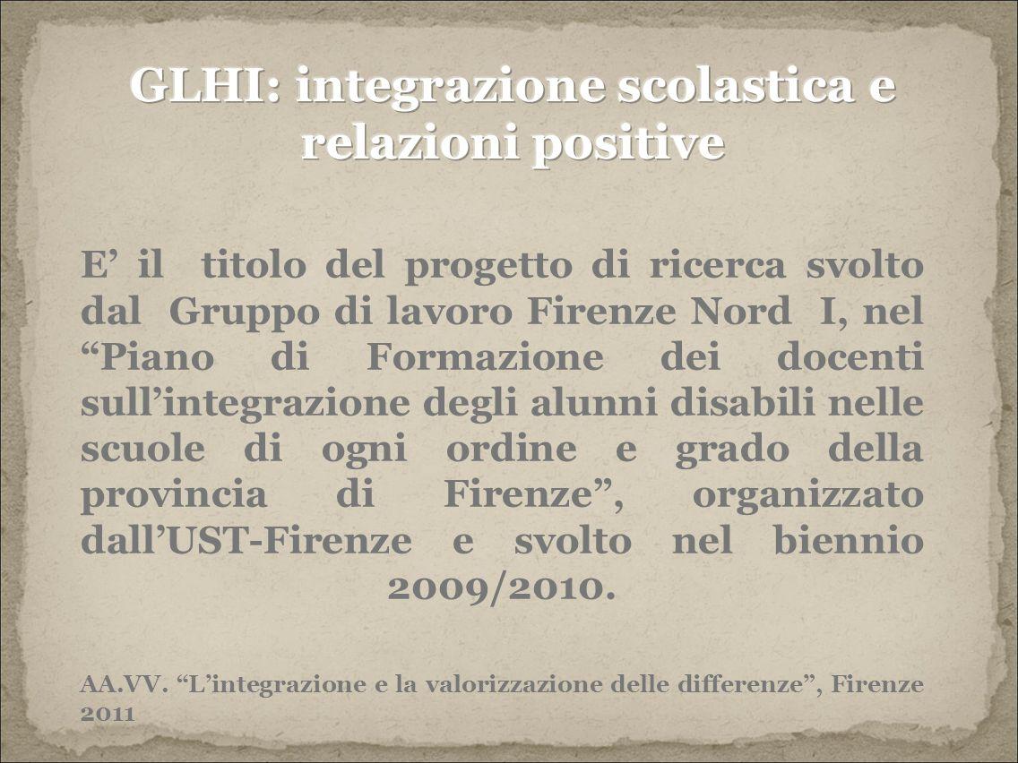 GLHI: integrazione scolastica e relazioni positive