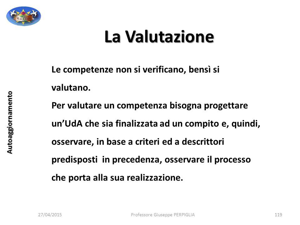 La Valutazione Le competenze non si verificano, bensì si valutano.