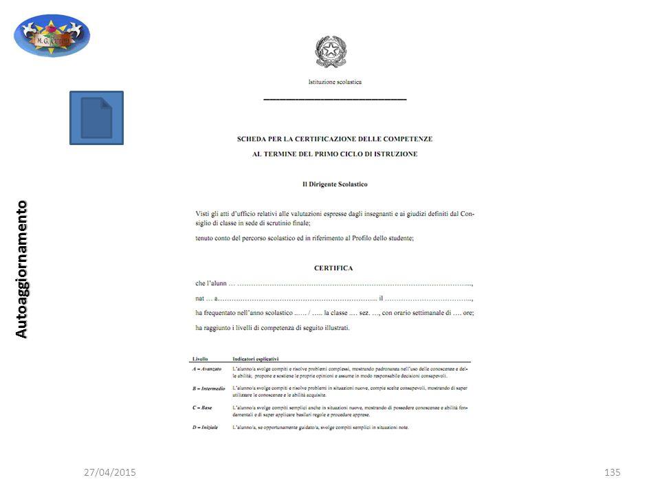 Autoaggiornamento 27/04/2015 Professore Giuseppe PERPIGLIA