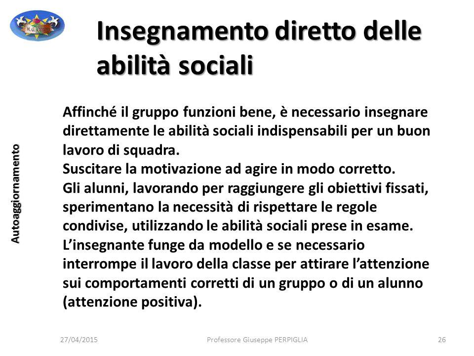 Insegnamento diretto delle abilità sociali