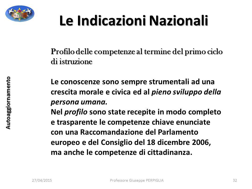 Le Indicazioni Nazionali
