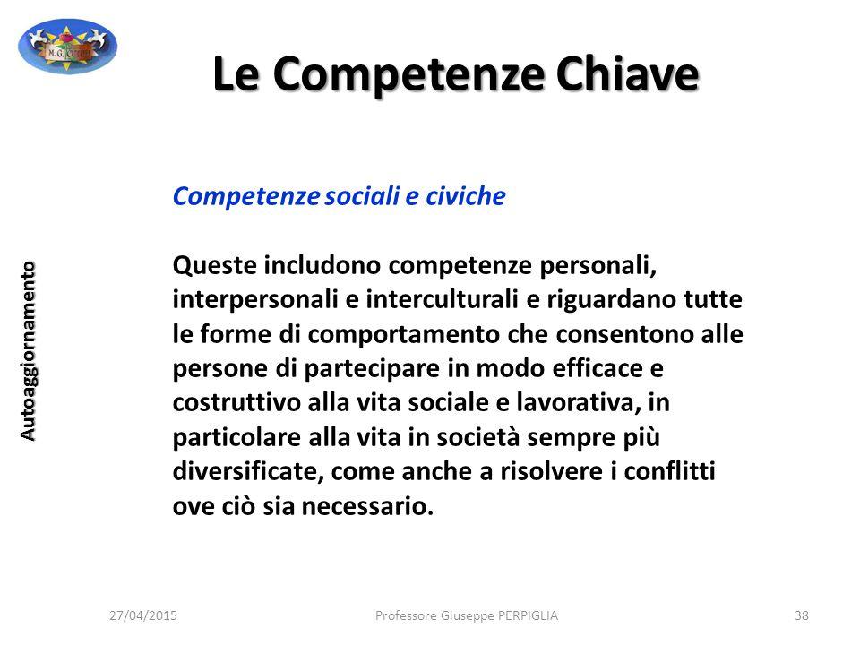 Le Competenze Chiave Competenze sociali e civiche