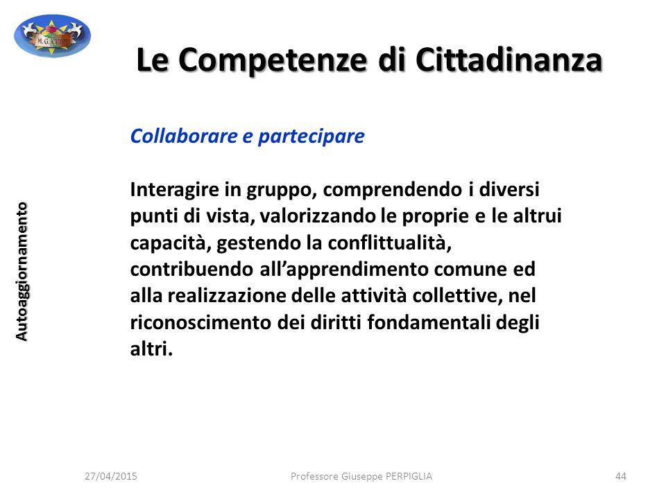 Le Competenze di Cittadinanza
