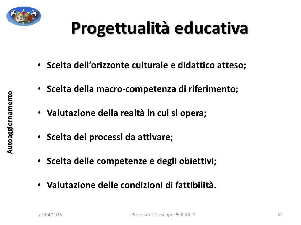 Progettualità educativa