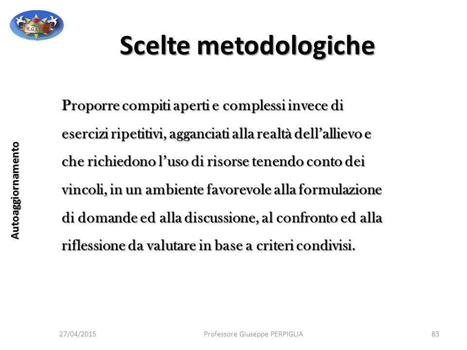 Scelte metodologiche