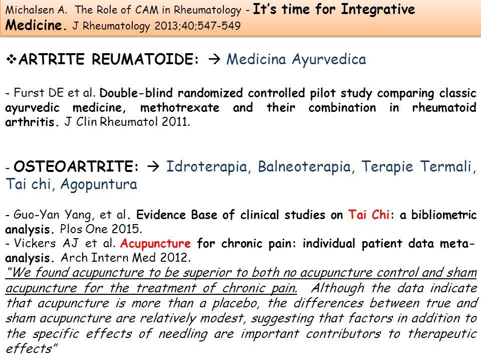 ARTRITE REUMATOIDE:  Medicina Ayurvedica