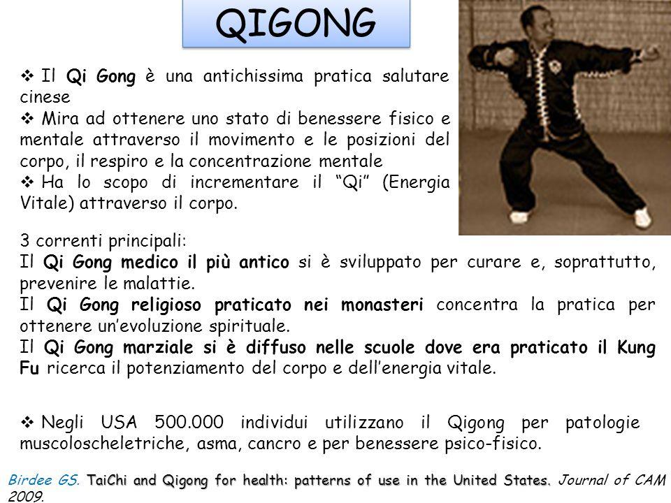 QIGONG Il Qi Gong è una antichissima pratica salutare cinese