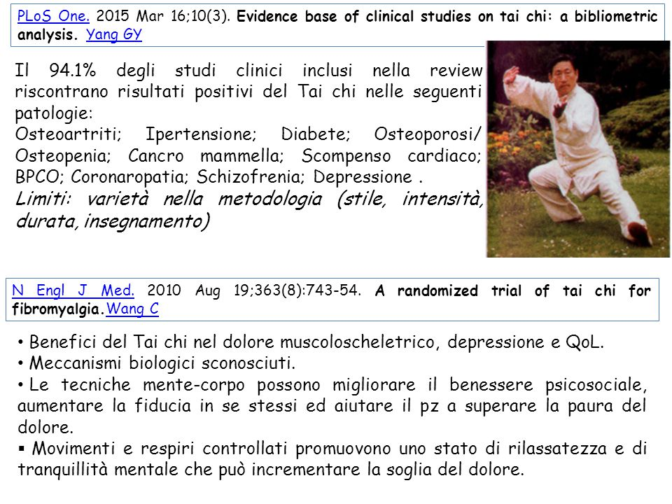 PLoS One. 2015 Mar 16;10(3). Evidence base of clinical studies on tai chi: a bibliometric analysis. Yang GY