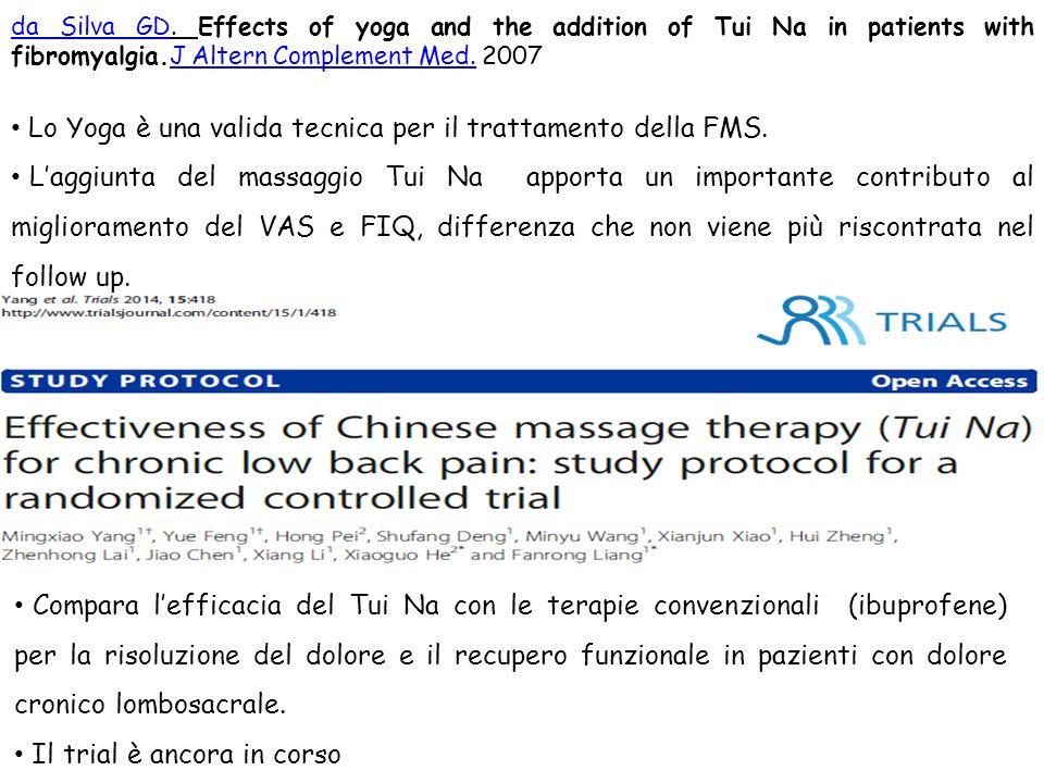 Lo Yoga è una valida tecnica per il trattamento della FMS.