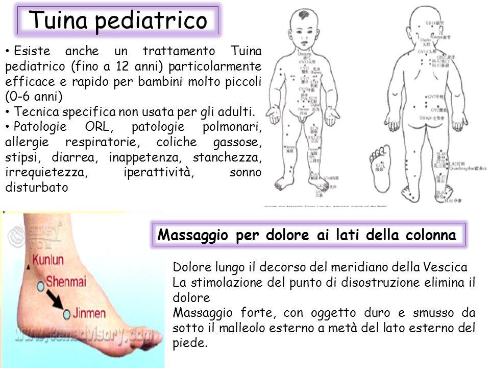 Tuina pediatrico Massaggio per dolore ai lati della colonna