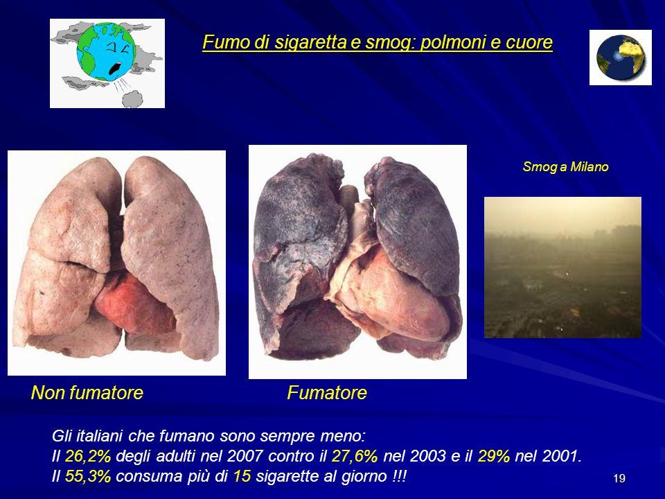 Fumo di sigaretta e smog: polmoni e cuore