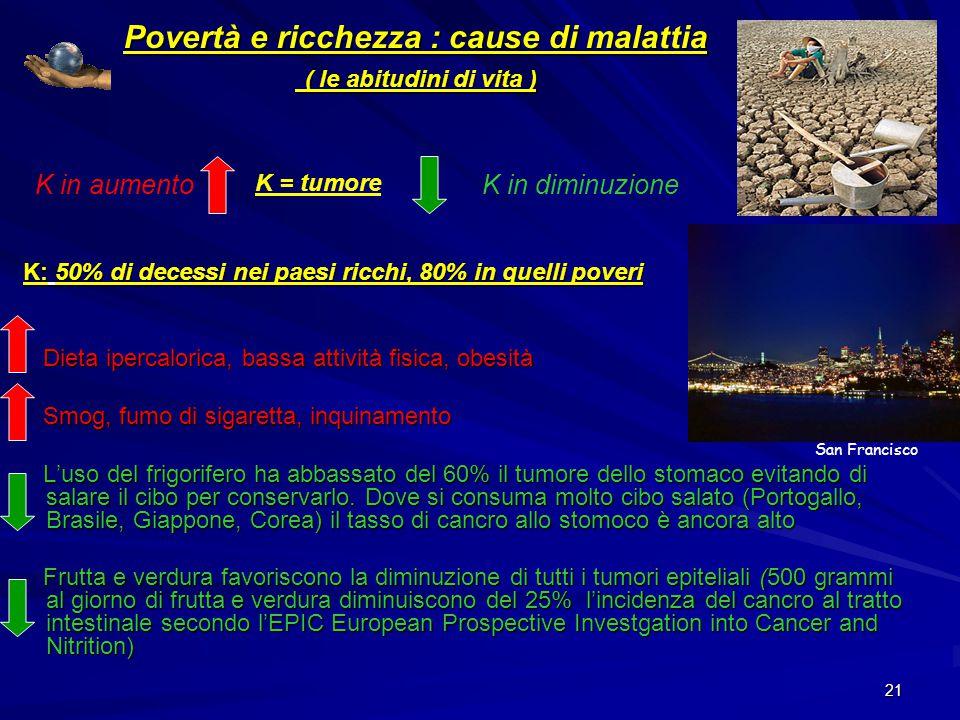 Povertà e ricchezza : cause di malattia ( le abitudini di vita )