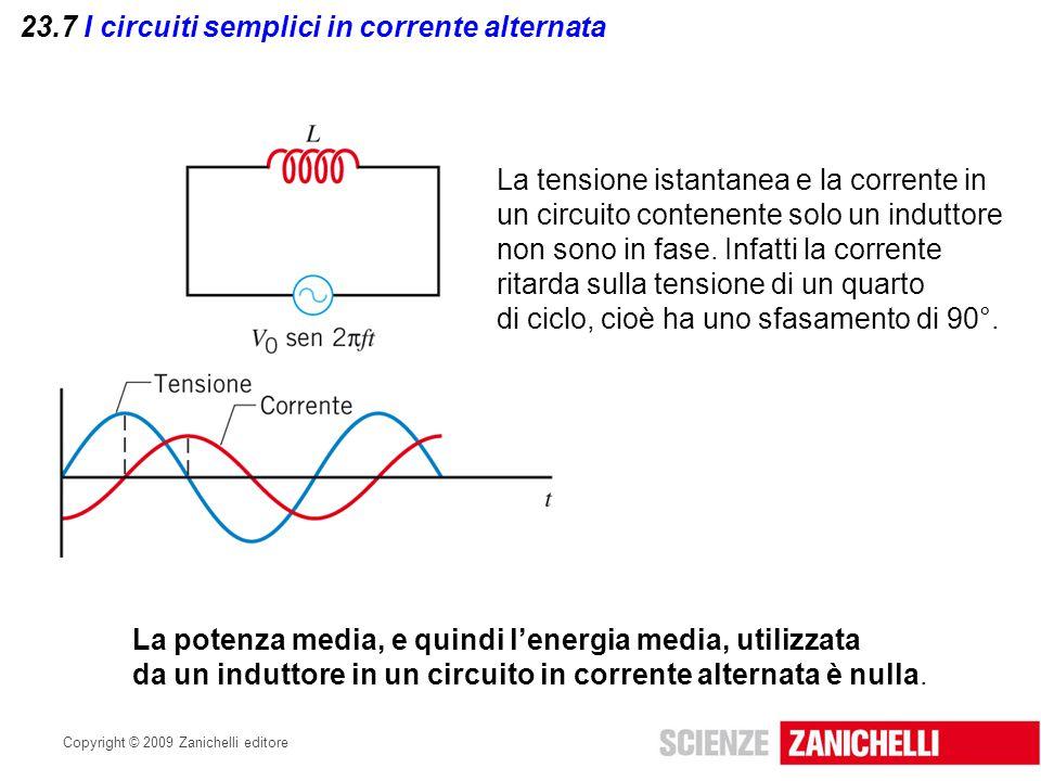 23.7 I circuiti semplici in corrente alternata