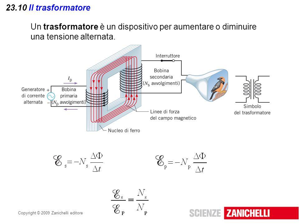 Un trasformatore è un dispositivo per aumentare o diminuire