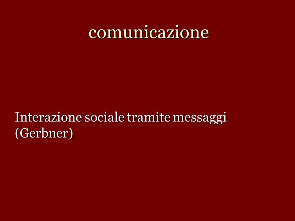 Interazione sociale tramite messaggi (Gerbner)