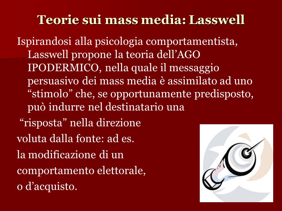 Teorie sui mass media: Lasswell