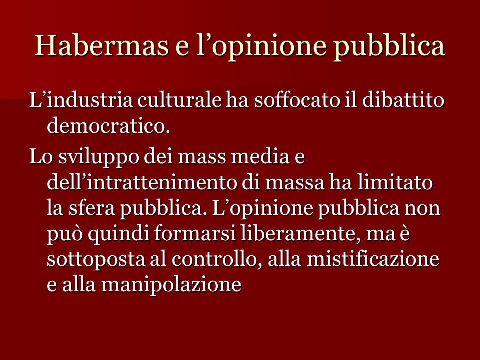 Habermas e l'opinione pubblica
