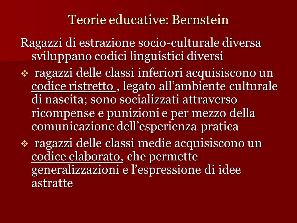 Teorie educative: Bernstein