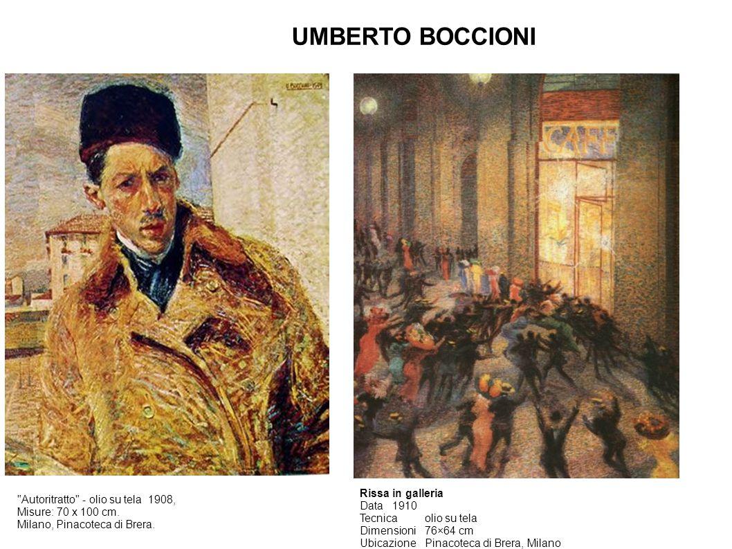 UMBERTO BOCCIONI Rissa in galleria Data 1910 Tecnica olio su tela