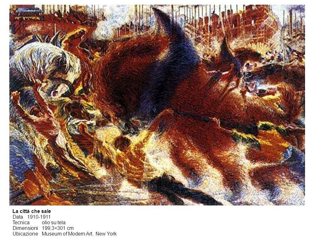 La città che sale Data 1910-1911. Tecnica olio su tela.