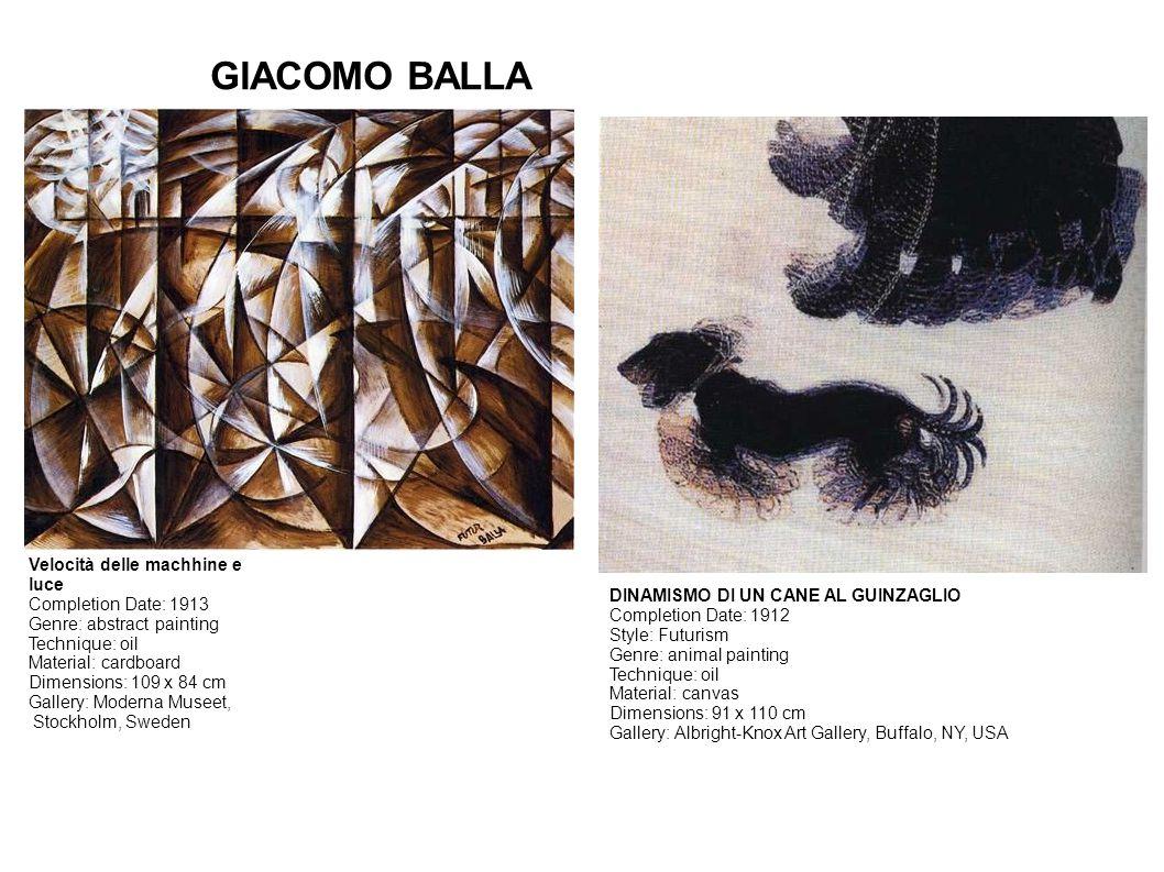 GIACOMO BALLA Velocità delle machhine e luce Completion Date: 1913